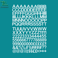 T07066 Eco-friendly 2cm Self Adhesive Vinyl Sticker Letters and numbers Children's indoor decorative stickers Decal Home Decor