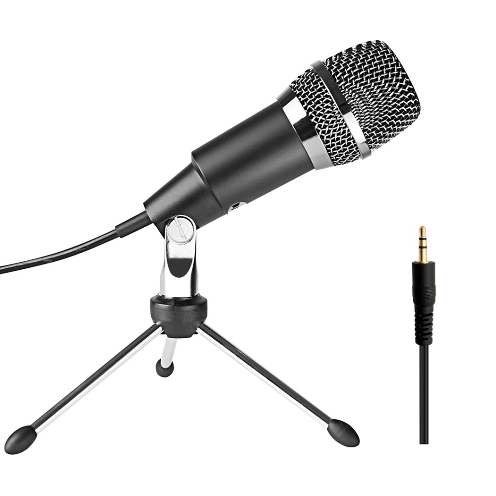 FIFINE 3.5mm Plug Microphone for Radio Online Course Meeting Chat suit for computer PC High Sensitivity Clear Recording K667