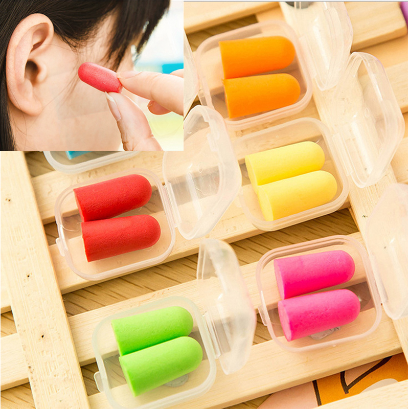 20 Pairs Soft Foam Anti-nosie Earplugs Ear Protector Plugs Anti Sound Noise Protection For Travel Sleeping ( Bagged)