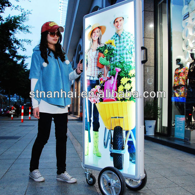 Buy 1 Send 2 pcs !!! J2A-073 New media outdoor LED sign display stand with lithium battery