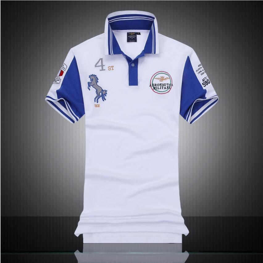 New lapel Man   Polo   Shirt Casual BMW   polo   tops Aeronautica militare Cotton   Polo   shirt Men Short Sleeve   polo   men clothes