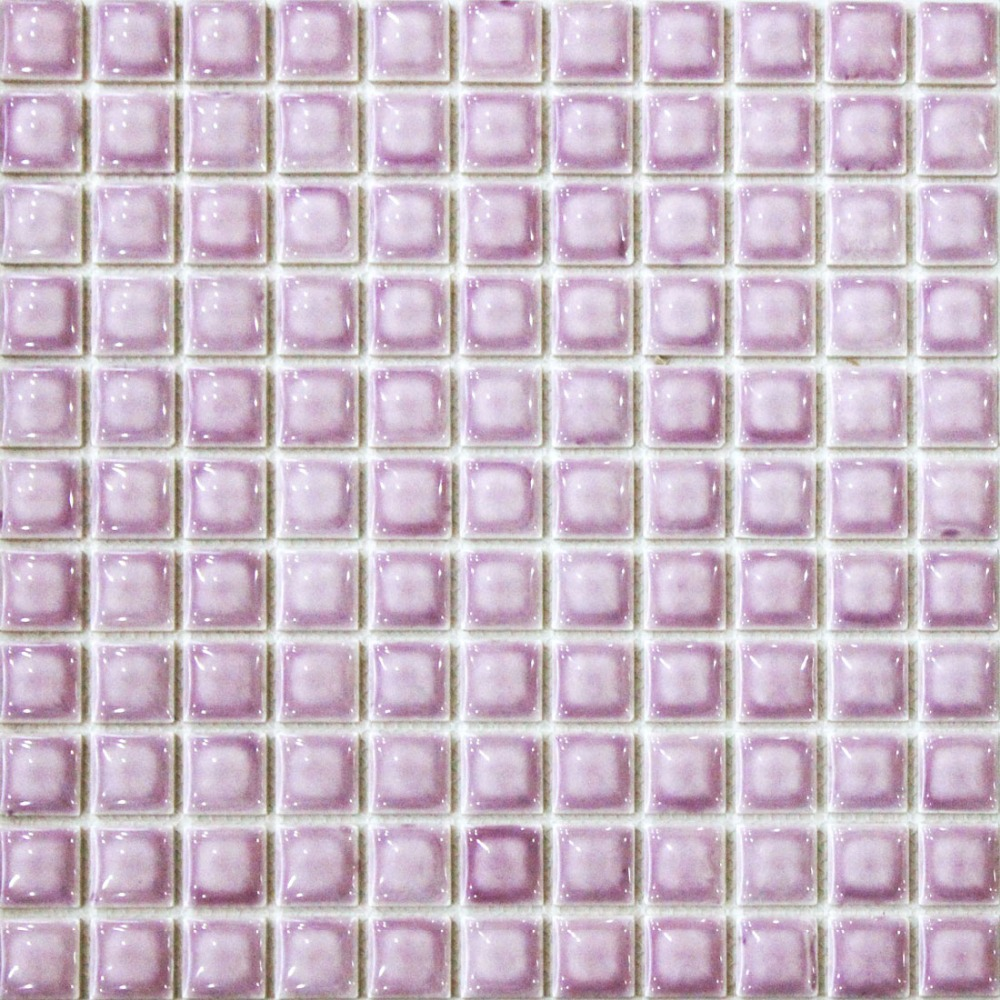 Mosaic tile square backsplash black kitchen mosaics art for Carrelage salle de bain couleur mauve