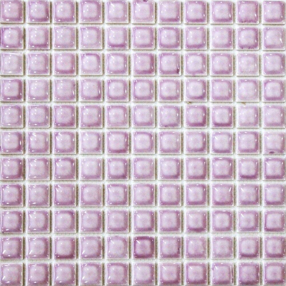 ჱCONVEX púrpura cerámica mosaico azulejo cocina backsplash papel ...