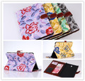 New Flower Case for Samsung Galaxy Tab S 8.4 T700 T701 T705 8.4 inch tablet, With Card Holders Cover Black Blue Red + Screen Pen