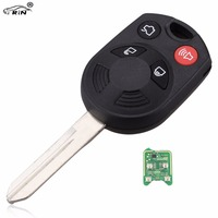 RIN 315 433MHZ 4 Button Car Key Keyless Entry Combo Fob For Ford Edge Escape 08years