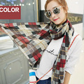 Осень и зима весна леди комфорт растянуть кожу мягкой все матч плед шарф платок шарфы высокое качество шарф палантин