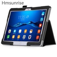 Hmsunrise Case For Huawei MediaPad M3 Lite 10 Foilo Stand PU Cover For Huawei MediaPad M3
