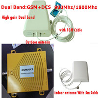 GSM 900Mhz Booster DCS 1800Mhz Repeater Dual Band Gsm 4g Mobiel Phone Signal Booster Kits W