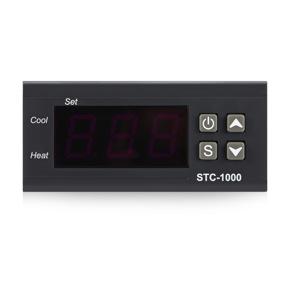 цена на 2017 High Accurancy STC - 1000 NTC Sensor Microcomputer Temperature Controller with LCD Display Screen Thermostat Universal