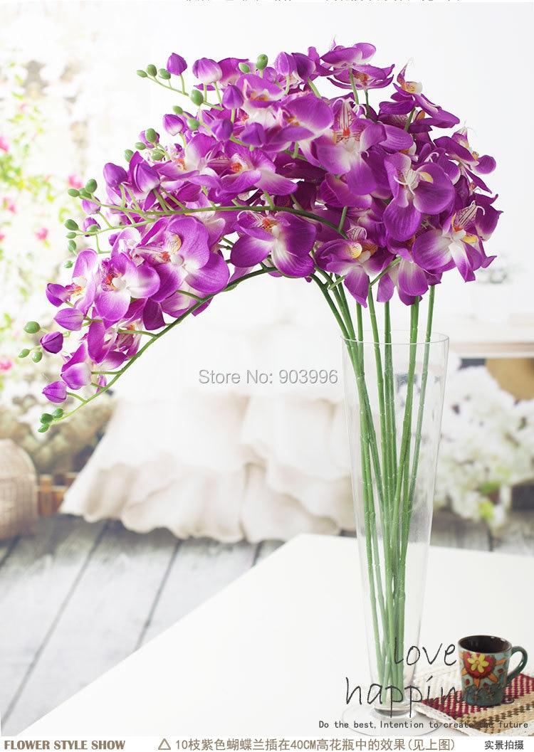 SPR 30 stks / partij kunstmatige vlinder orchidee zijde bloem - Feestversiering en feestartikelen - Foto 5