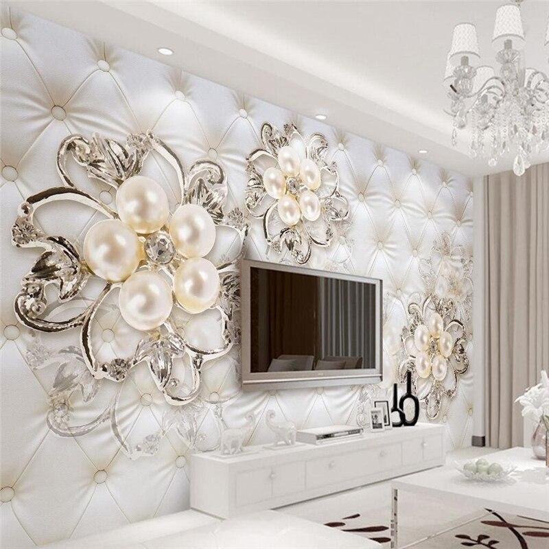Beibehang waterproof silk cloth papel de parede 3d for 3d wallpaper for home uk