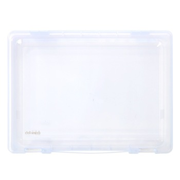 Fashion Transparent File Box PP Plastic File Case Information Box Desktop Storage Office Stationery Deli 5702 ...