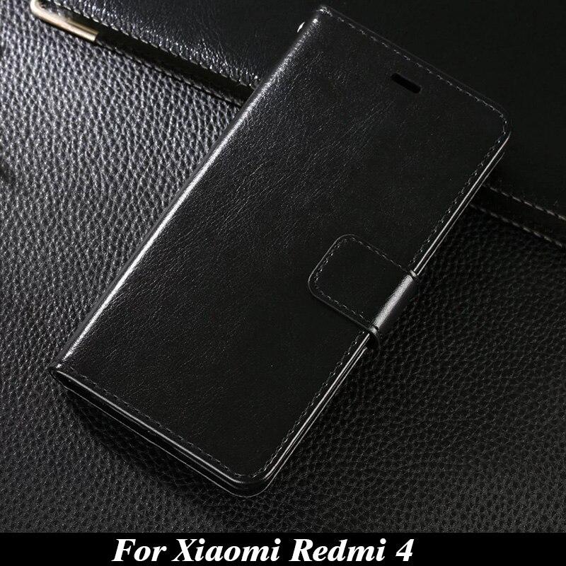 Para el caso de xiaomi redmi 4 5.0 pulgadas caja del teléfono billetera de cuero
