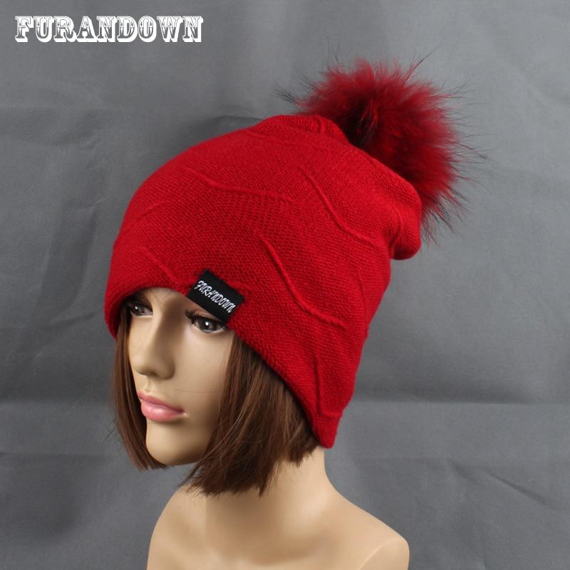 2019 Womens Topi Bulu Hangat Di Dalam Topi Beanie Gadis Musim Dingin - Aksesori pakaian - Foto 1