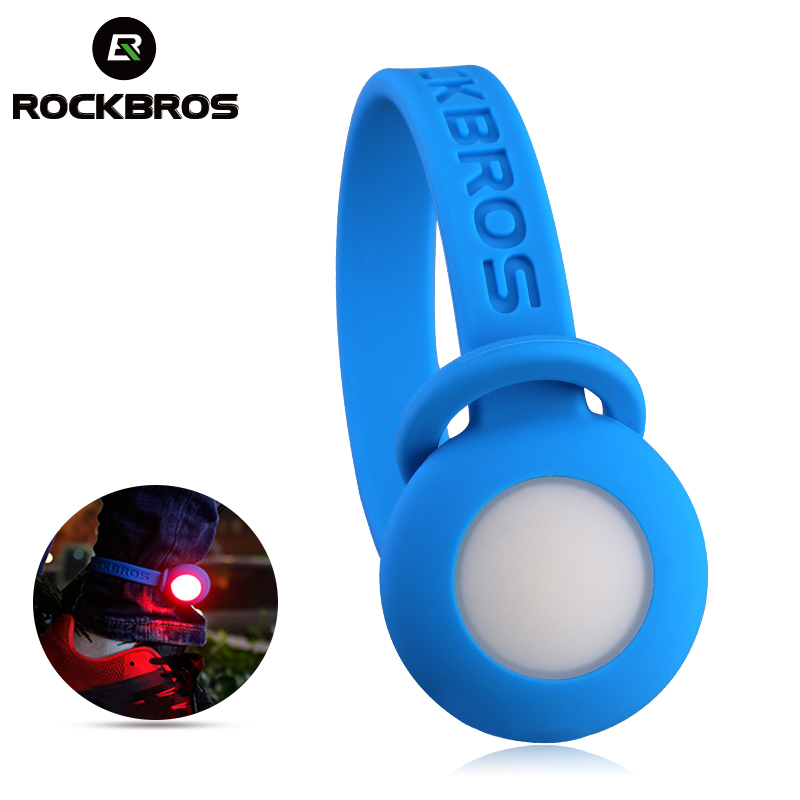 ROCKBROS running light led arm leg bicycle pant Clip Belt cycling reflector rear light w ...