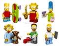 Симпсоны мини Fiugres DIY пластиковые игрушки куклы дети строительство игрушки кирпичи строительные блоки совместимые с Lego 6 шт./лот