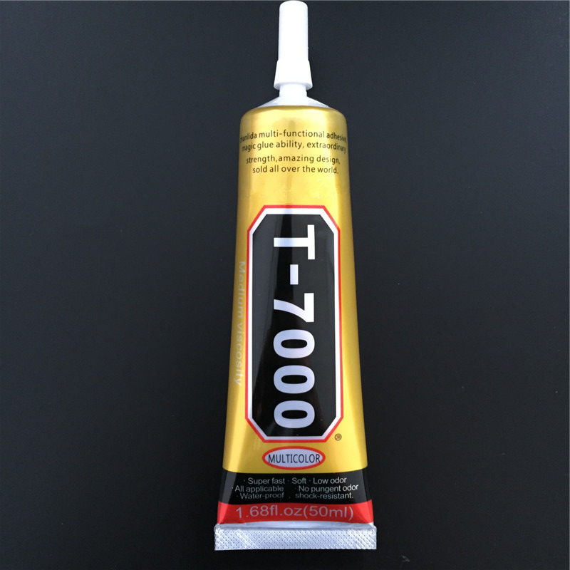 T7000 50ml Multipurpose Adhesive Rhinestone DIY Phone Screen Frame Epoxy Resin Sealant Super Black Liquid Glue T-7000 Nail Gel