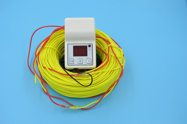 Free shipping Farm use 100M 1kw 220V Soil heating wire+2000W Temperature Controller greenhouses heating wire