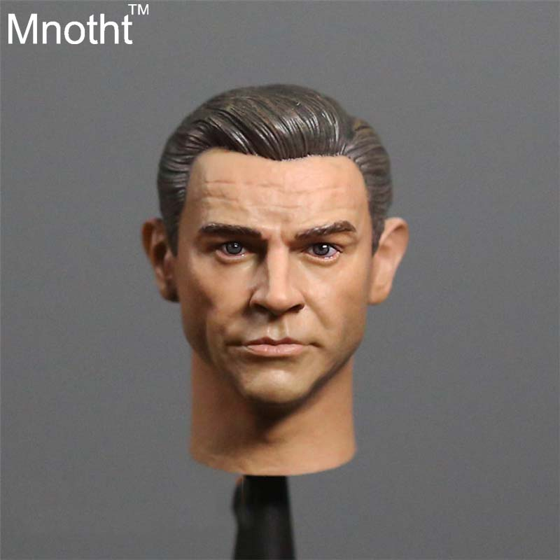 1/6 James Bond Classic Version 007 Head Agent Sean Connery head carving Soldiers Head Carving For 12'' Action Figure Toys james bond agent 007 ocean royale m edt spr 75 мл тестер
