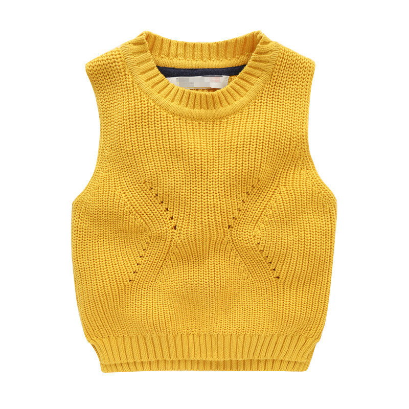Soft Kids Knitted Sweaters Vest Baby Boy Clothes Infant Cotton Sleeveless Jumper Children Waistcoat pullover Clothing 2-7T