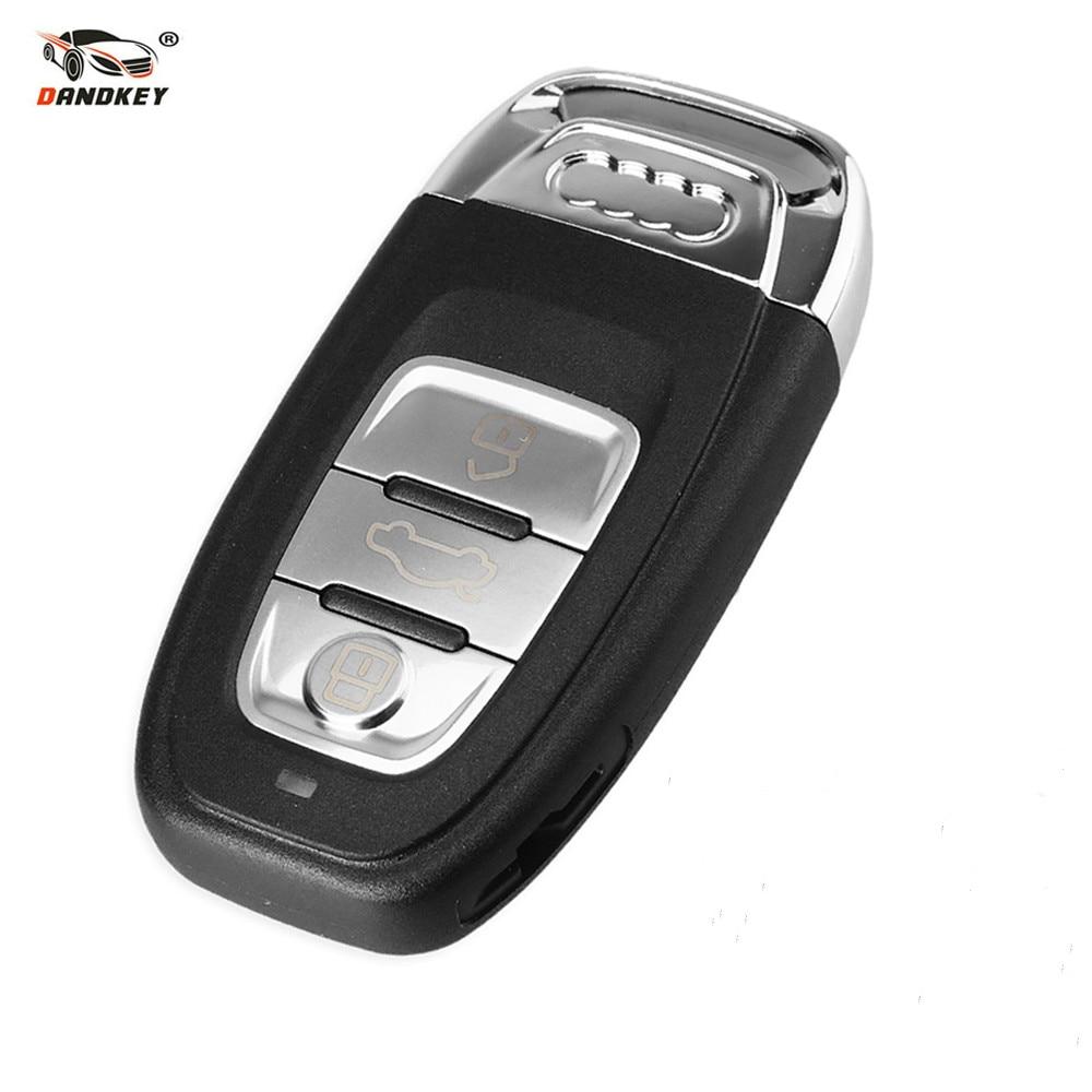 Dandkey Smart Remote Car Key Shell Cover Case Fob For Audi A4L A6L Q5 A5 754C / 754GDandkey Smart Remote Car Key Shell Cover Case Fob For Audi A4L A6L Q5 A5 754C / 754G