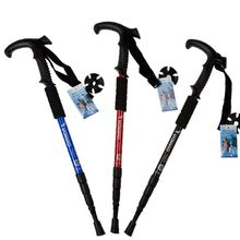 4-section Ultra-light Aluminum Alloy Adjustable Canes Outdoor Camping Hiking Walking Sticks Trekking Pole 5 Colors