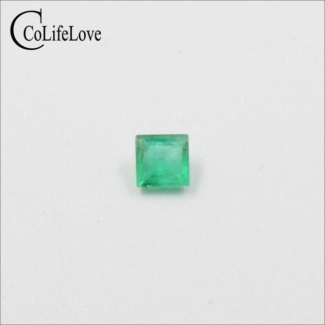 High quality princess cut emerald loose stone SI grade natural emerald gemstone