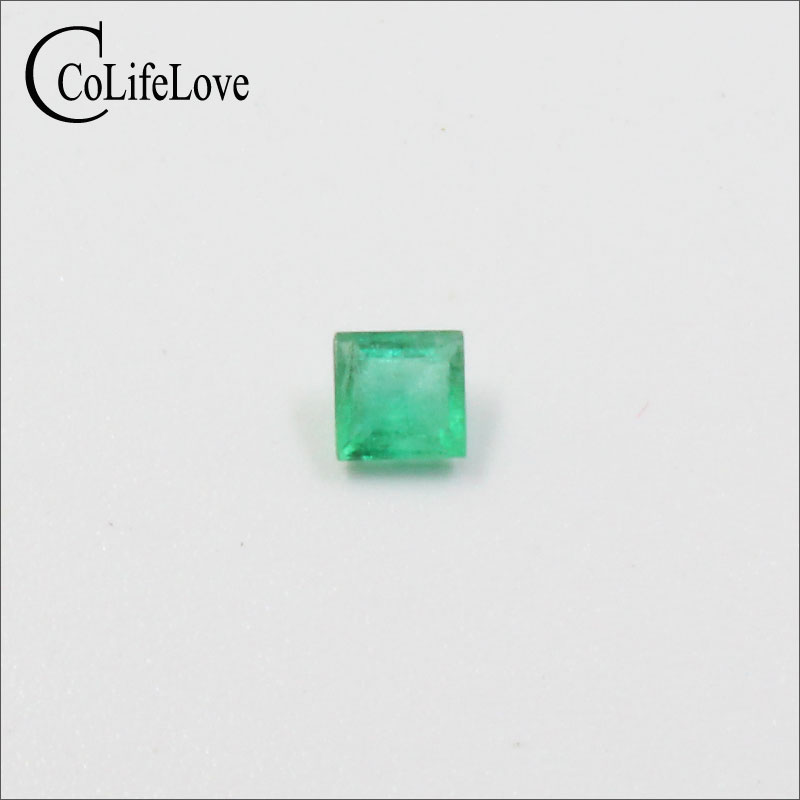 Высокое качество принцесса огранка изумруд Свободный Камень Si класс натуральный изумруд драгоценный камень 3 5 мм натуральный изумруд свободный драгоценный камень