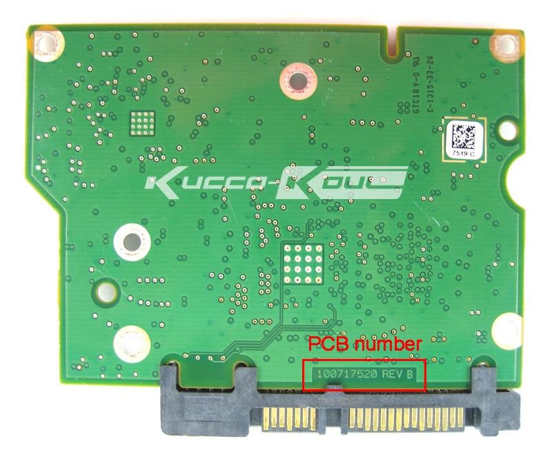 все цены на hard drive parts PCB logic board printed circuit board 100717520 for Seagate 3.5 SATA ST1000DM003 ST2000DM001 ST3000DM001