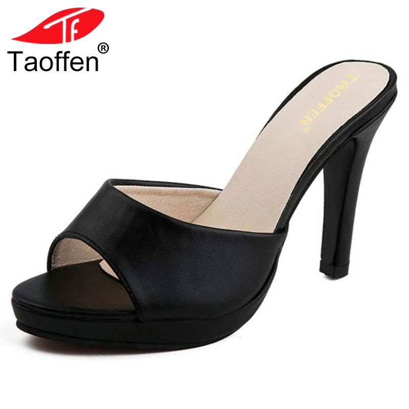 TAOFFEN high heels sandals vogue women sandals beautiful ladies slippers summer shoes gladiator heels footwear size 34-39 WA0208 taoffen women high heel sandals open toe pleated concise slippers solid color shoes women footwear summer party size 34 39