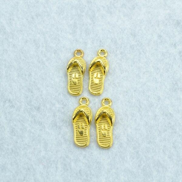 100 pcs encantos Liga cor de ouro sapatos pingentes apreciação jóias e  componentes fit colares e pulseiras fazer Z142149 e211abd6dc