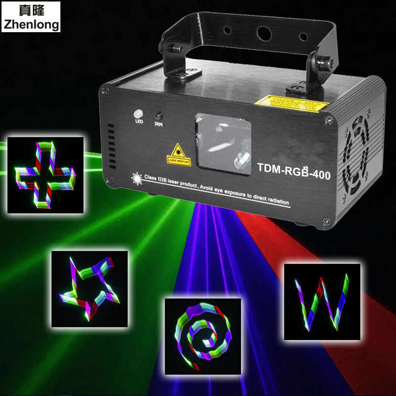 Remote 3D RGB 400mW DMX 512 Laser Scanner Projector Stage Lighting Effect Party Xmas DJ Disco Show Lights Full Color Light 270mw full color laser lighting dmx sound auto dj disco club party stage light