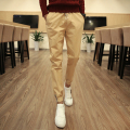 Mens Pants 2016 New Arrivals Men Casual Pants 3XL Mid Waist Drawstring Joggers Pant Men Khaki/Black/Army Long Trousers