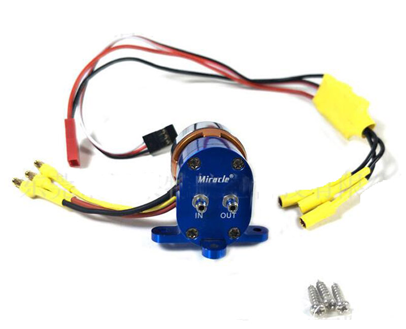 1Set RC Model Fixwing Pump Electronic Smoke Pump with Brushless ESC For Gas Engine RC Airplane water pump c w carburetor insulator for zenoah rcmk engine rc gas boat