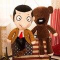 Nueva Película de Dibujos Animados Mr. Bean Juguetes de Peluche Super Lindo 30 ~ 40 cm Mr. Bean y Solf Oso de Peluche Muñecas Juguetes de Peluche para Los Niños El Mejor Regalo