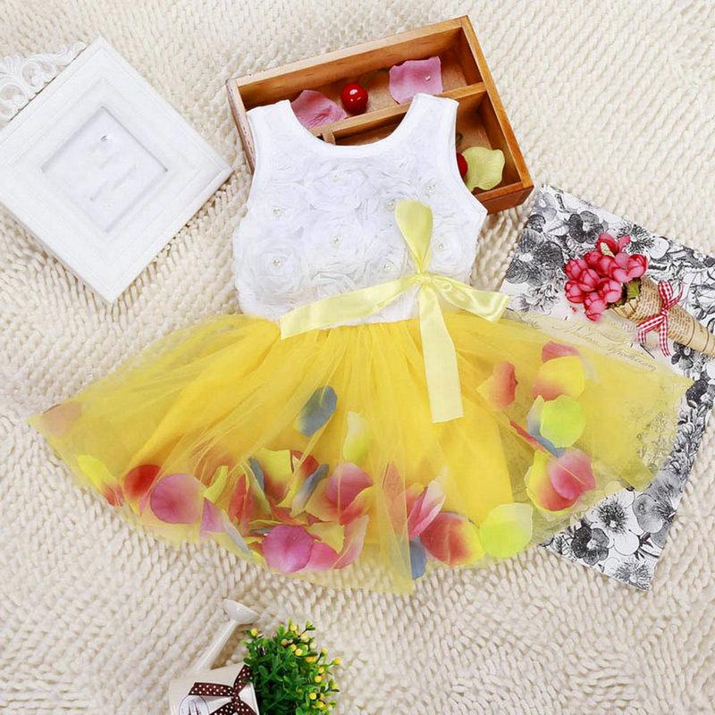 2017 Summer Hot Sales Kid Girls Princess Dress Toddler Baby Party Tutu Lace Bow Flower Dresses Fashion Vestido