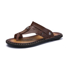 DUDELI offre spéciale hommes sandales en cuir véritable hommes chaussures d'été loisirs pantoufles tongs hommes chaussures confortables sandale souple