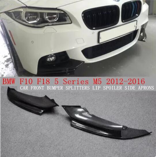 Acheter JIOYNG En Fiber De Carbone AVANT DE la VOITURE AUTOCOLLANTS SPLITTERS LIP SPOILER CÔTÉ TABLIERS FIT POUR BMW F10 F18 5 Série M5 2012 2013 2014 2015 2016 de bumper splitter fiable fournisseurs