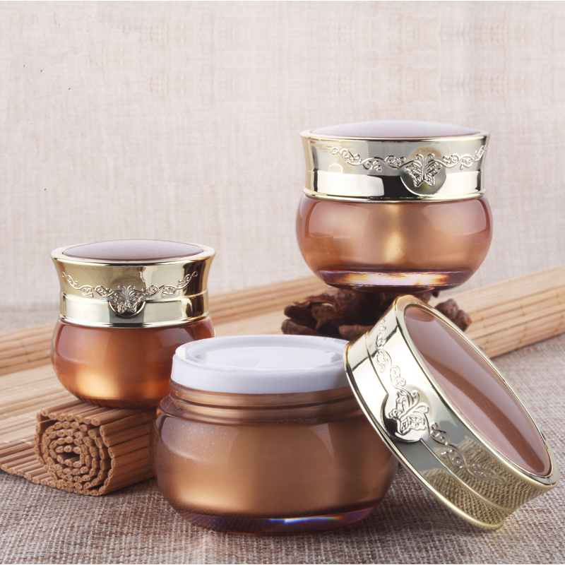 Capacity 10g 300pcs/lot Golden Butterfly Acrylic Cream Jar, cosmetic bottles, cream bottles cream points bottling