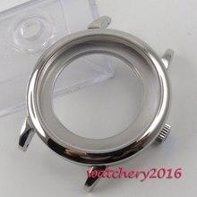 40มม.316LเงินSapphire GlassนาฬิกาอัตโนมัติกรณีFitสำหรับETA 2836 Miyota 8215 8205 2813 3804การเคลื่อนไหว