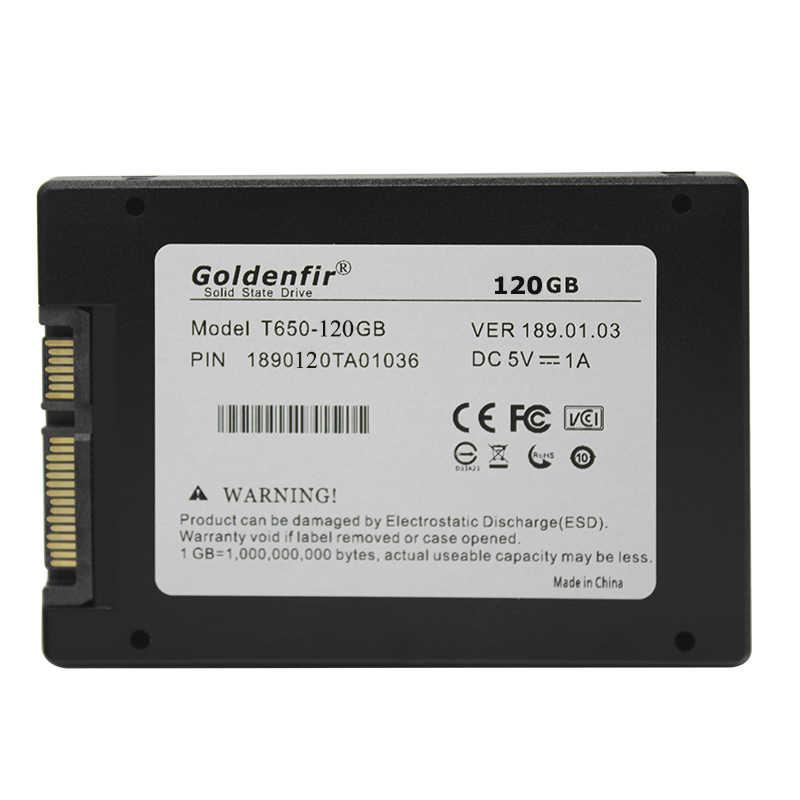 Goldenfir 2.5 SATA2 SATA3 SSD 60GB 16GB 240GB SSD 120GB 240g wewnętrzny półprzewodnikowy 360g 480 500g 960g 1t dysk twardy do komputera