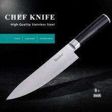 """Nuevo popular de sharp cuchillo de acero inoxidable cuchillo cortador de carne congelada de 8 """"pulgadas cuchillo cocinero cuchillo de cocina con caja de regalo."""