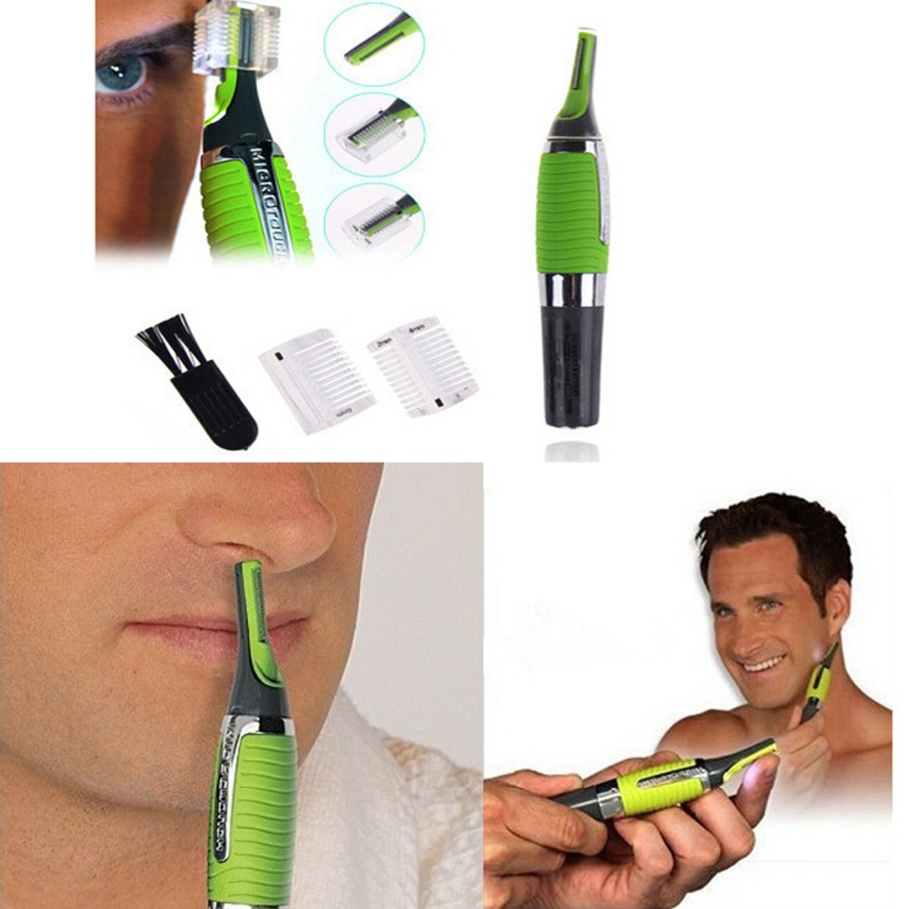 14.5*2.3CM Micro Trimmer Remover Touch Max Personal Hair Ear Nose Neck EyebrowTrimmer Remover Brand new Green