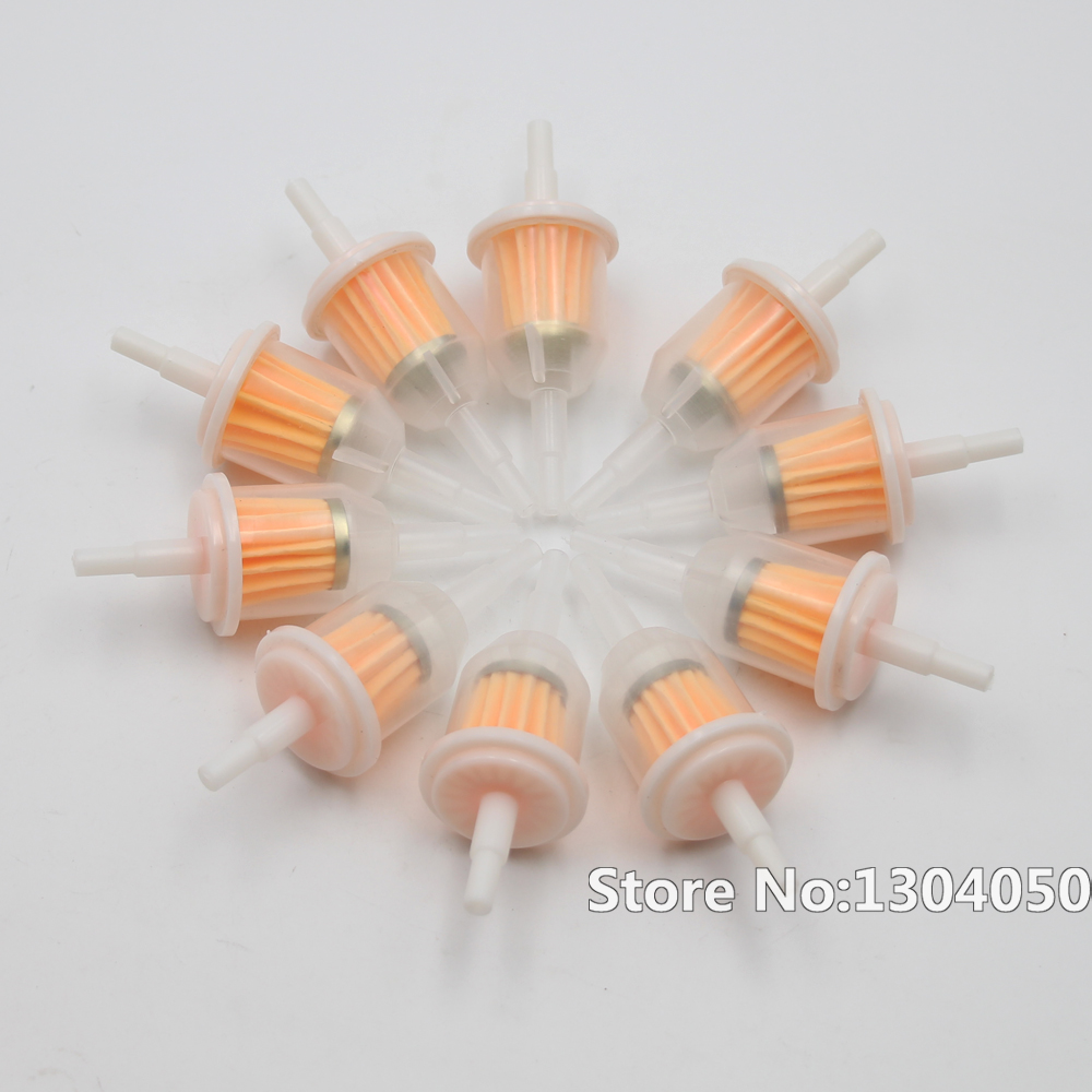 """10Pcs 1//4/"""" 6mm//8mm Inline Gas Fuel Filter For Small Engine Lawn Mower FA"""