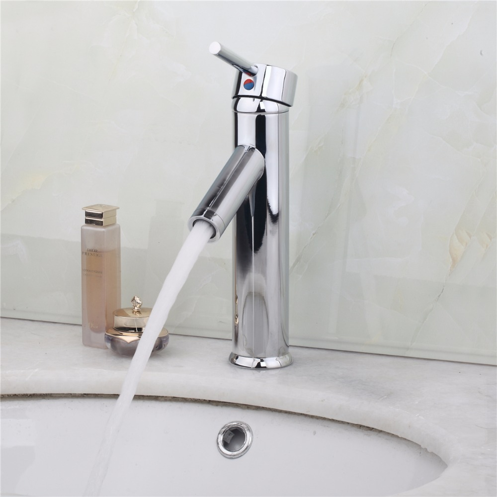 Solid Brass Bathroom Faucet Waterfall Faucet Single Hole Basin Faucet  Bathroom Tap Torneira Para Banheiro