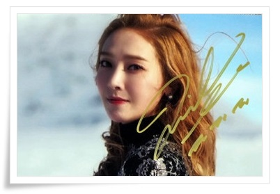 Jung Soo Yeon Jessica Jung autographed signed photo  Wonderland new korean 12.2016 03 lg ga b409 smca