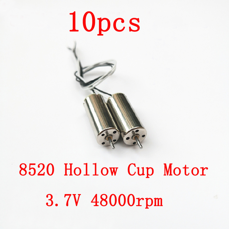 10pcs New Arrival 8520 Hollow Cup Motor 3.7V 48000rpm Engine for RC Model Aircraft Remote Control Drone Quadcopter Drive