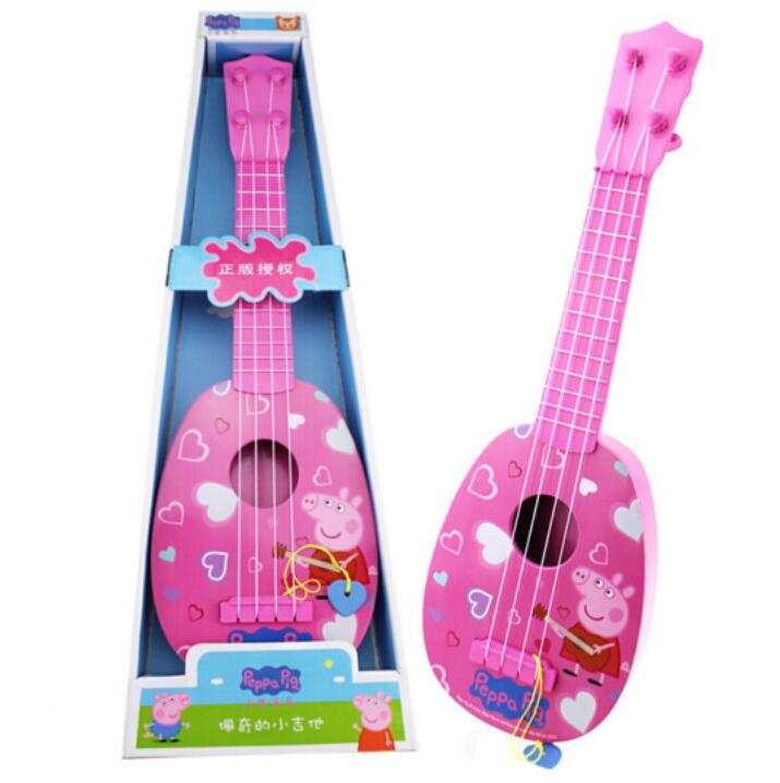 "New Arrival Genuine Peppa Pig 36cm/14"" Children Musical Instruments Toy pink blue Ukulele Guitar Education Birthday Gifts"
