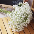 6Pcs White Baby Breath Artificial Flowers for Wedding Decoration Event Party Supplies High Quality  Decorative Flowers Wreaths