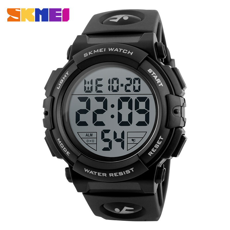 SKMEI 2107 New Sports Watches Men Chronograph Big Dial LED Fashion Digital Watch Mens Waterproof Military Style Wristwatch 1258 купить цепь и звезды ваз 2107